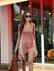 Mulheres Irregular malha Conectado Blusa
