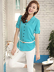 Hanyi Style Korean Yards Blouses Shirt(Blue)