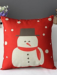 Cute Snow Man's Warm Huge Decorative Pillow Cover