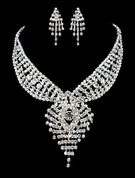 ME Vintage Luxury Austria Rhinestone Set Wedding Necklace And Earings Set T0014