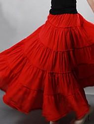 Women's Gypsy Bohemia Large Hem Cotton Spain Pleated Maxi Skirts