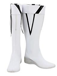 Negro Rock Shooter TV Ver. Blanco PU Botas de cuero cosplay