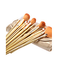 18Pcs Cosmetic Brush Tools with Gold Leatherette Pouch