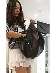 Women PU / Cowhide Casual Tote Black