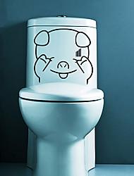 WC Envergonhado Porco bonito adesivo