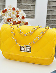 Women PU Casual / Event/Party Shoulder Bag Beige / Yellow / Orange / Black