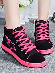 ShangBang Women's Casual Black High Top Sneakers