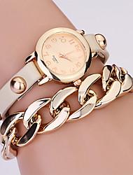 Koshi 2014 Women's Fashion Over Gild Rivet Chain Watch (Cream)