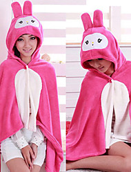 Usavich Red Stripes Coral Fleece Kigurumi Cloak