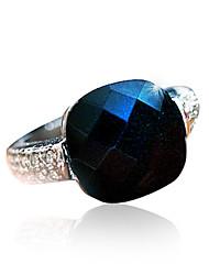 Meet You Gem Ring Inlaid With Austrian Rhinestone