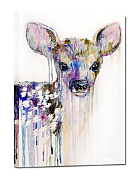 Hand Painted Oil Painting Animal Bambi Painting with Stretched Frame