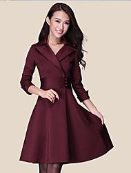 Das ShiBeiNi Mulheres Sexy Magro Big balanço cintura vestido (roxo, vinho, preto)