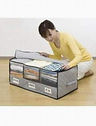 Storage Boxes Bamboo / Carbon Fiber withFeature is Lidded / Travel , For Jewelry / Shoes / Ties / Underwear / Cloth / Quilts