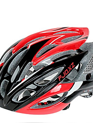 FJQXZ Ultralight 26 Vents PC + EPS Rouge Casque de vélo