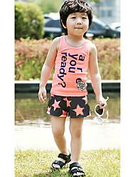 Algodão de manga curta Casacos Conjuntos de roupas para crianças