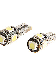 T10 LUCE 5050 SIDE LED LAMPADINA 5 SMD per Mortorcycle 2PCs
