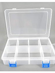 Plastic 8 Compartments Transparent  Storage Case