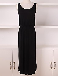 Women's Sexy  Black Sleeveless Chiffon Dress
