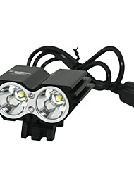 Marsing B22 2 x Cree XM-L T6 1200lm 3-Mode White Mountain Bike Light / koplamp - Zwart (4 x 18650)