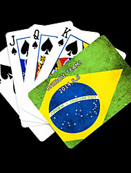 Personalized Gift Green Flag of Brazil Pattern Playing Card