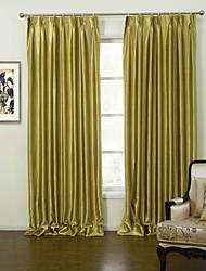 Dos Paneles Ventana Tratamiento Moderna , Sólido Sala de estar Poliéster Material cortinas cortinas Decoración hogareña For Ventana
