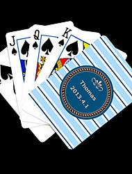 Patrón regalo personalizado azul Fringe Playing Card para Poker