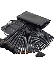 Pro High Quality 32 Pcs Synthetic Hair Makeup Brush Set With Black PU Pouch