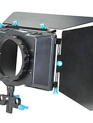 Matte Box Sunshade for 15mm rod support follow focus DSLR
