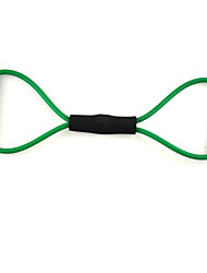 Word 8 Style Latex Fitness Exercise Stretch Pull Rope - Verde