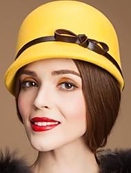 Lã senhoras elegantes do partido / Outdoor / chapéu Casual Com cinto de couro (mais cores)