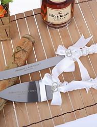 Inox Ensemble de service Thème classique Ruban Nœud papillon blanc Boîtier à cadeau