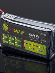 LEÃO 7.4V 900mAh 25C LiPo Battery (plug JST)