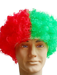 Les fans noire afro perruque bulkness Cosplay Halloween Noël perruque drapeau du Portugal perruque 1pc/lot