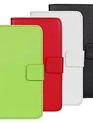 Pour Coque HTC Porte Carte Avec Support Clapet Coque Coque Intégrale Coque Couleur Pleine Dur Cuir PU pour HTC