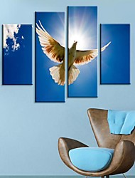 Stretched Canvas Art Animal Spread Its Wings to Fly  Set of 4