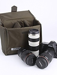 CADEN Waterproof Folding Partition Padded Foam Divider Protection Case Bag for Canon Sony Nikon DSLR Camera - Army Green