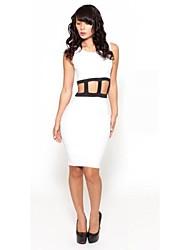 Женская Экспорт Мода Hollow Slim Fit сексуальный ночной клуб платье повязки
