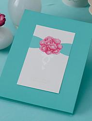 floral libro el tema de invitados (5 páginas) firmar en el libro