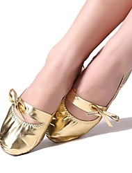 Non Customizable Women's Dance Shoes Belly Other Flat Heel Gold