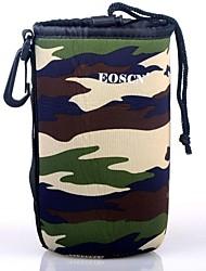 EOSCN Camouflage Pattern Protective Neoprene Bag for DSLR Camera Lens - Green (Size L)