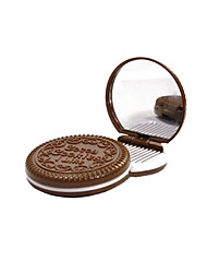 6.5*6.5*1.2 cm Chocolate Cosmetic Mirror