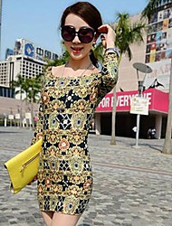 Women's Baroque Print Dress