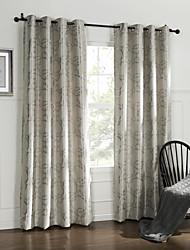 (Dos paneles) clásico astilla habitación círculo cortina de oscurecimiento