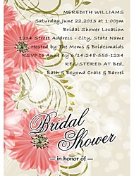 Personalized Barberton Daisy Bridal Shower Cards - Set of 12