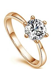 YOURSFS Womne'S Classicsix Jaw Imitation Diamant-Hochzeit Ring (Gold) -42