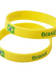 Brazil 2014 World Cup Yellow Silica Gel Bracelets