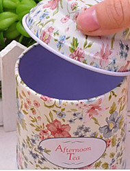 Elegant Colorful Floral Pattern Tea Caddy(Random Color)