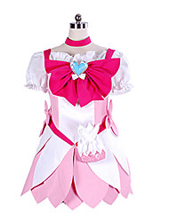 Inspired by Pretty Cure Cure Blossom Anime Cosplay Costumes Cosplay Suits Patchwork White / Pink Dress