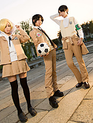 Attack on Titan Eren Jager Cosplay School Uniform