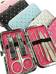 8PCS Nail Clippers Manicure Kits Within Star Pattern Manicure Bag(Random Color)